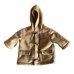 The Children's Place Coat 6-9 Months Beige Hood
